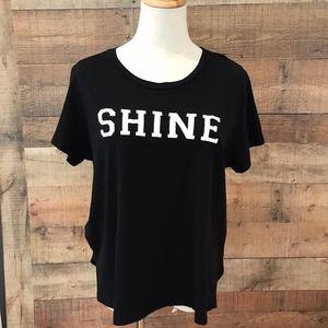 Sundry Black T-Shirt SHINE Size 1/Small NEW